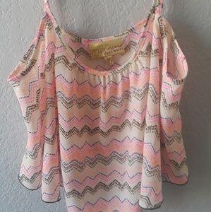 Vera Wang crop top blouse